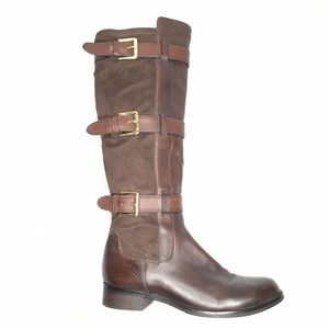 Cole Haan Boot Leather Brown Pull On Adjustable 8